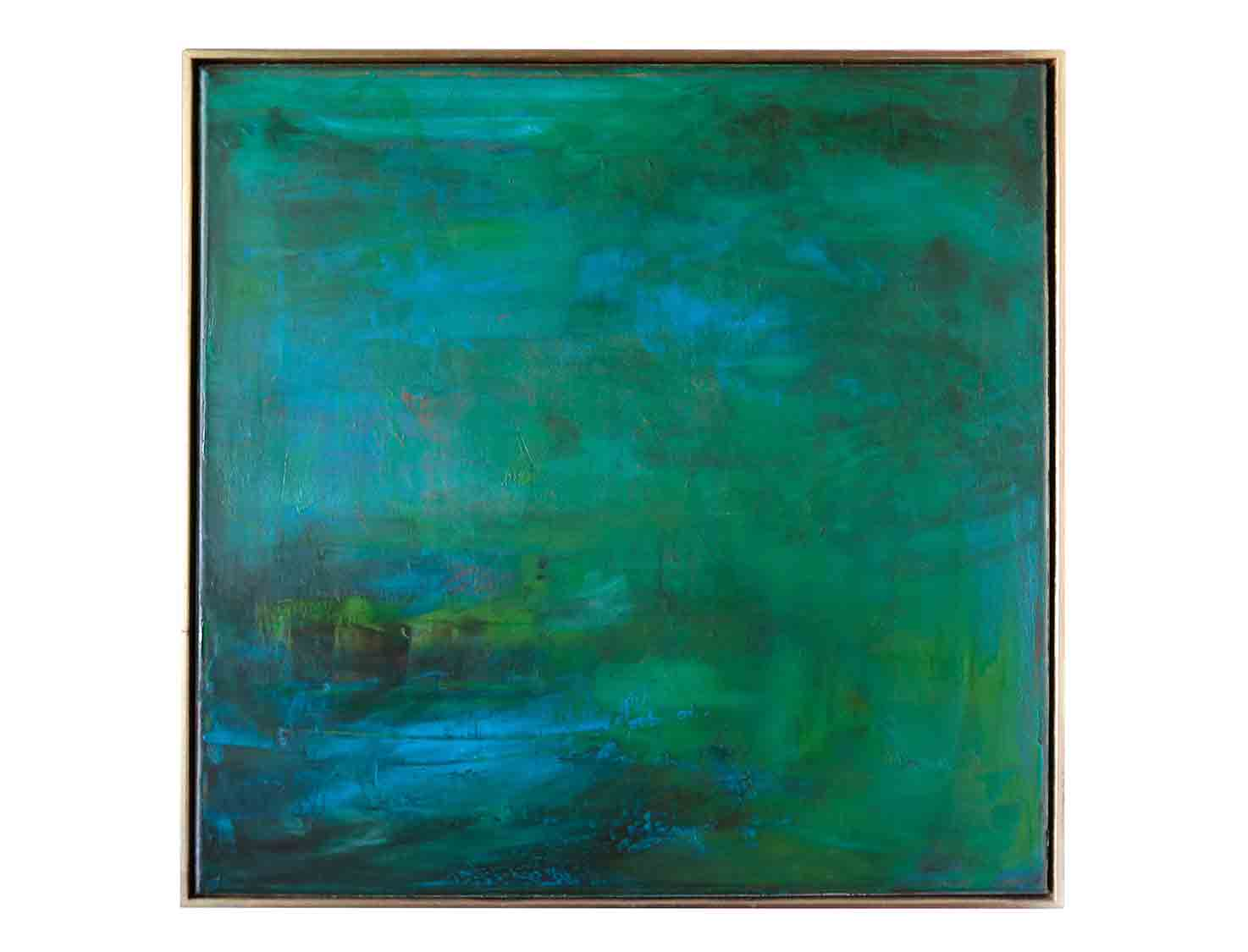 Sei Watanabe Small Green Painting